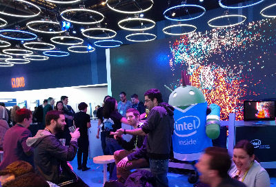 Intel's club-like scene at the end of MWC 2016
