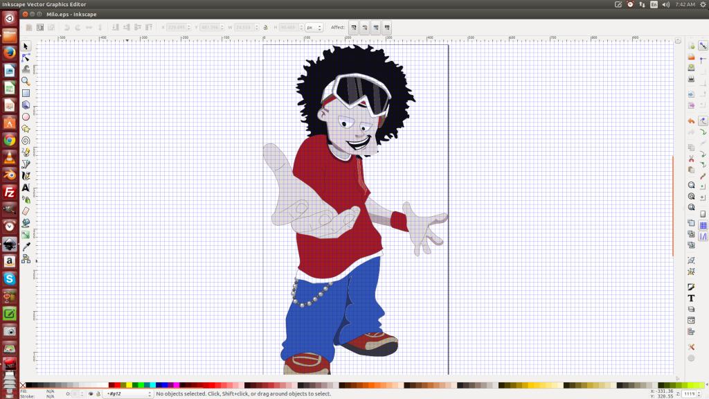 Screenshot of cartoon character