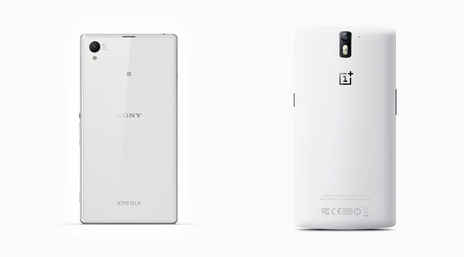 Combo of Z1 and One plus One seen from the back