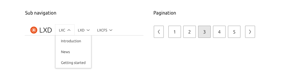 Two new components in the framework, sub-navigation and page pagination.
