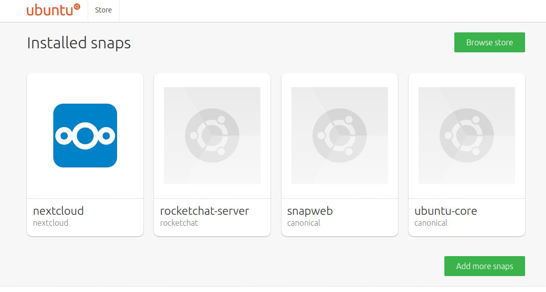 Ubuntu Core Store
